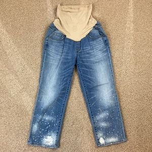 Jessica Simpson Full Panel Bleached Maternity Jean